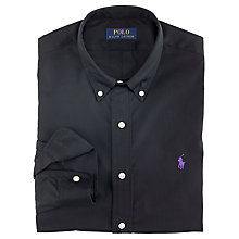 Buy Polo Ralph Lauren Slim Fit Poplin Shirt, Black Online at johnlewis.com