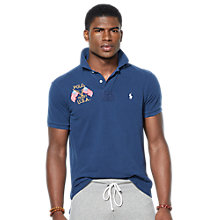 Buy Polo Ralph Lauren U.S.A. Custom Fit Polo Shirt, French Navy Online at johnlewis.com