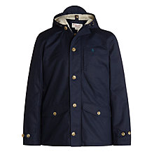 Buy Original Penguin Balkin Cotton Blend Parka, Dark Sapphire Online at johnlewis.com