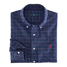 Buy Polo Ralph Lauren Tattersall Oxford Shirt, Navy Online at johnlewis.com