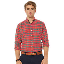 Buy Polo Ralph Lauren Oxford Tartan Shirt, Tartan Red Online at johnlewis.com
