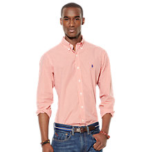 Buy Polo Ralph Lauren Gingham Slim Fit Shirt, Orange/White Online at johnlewis.com