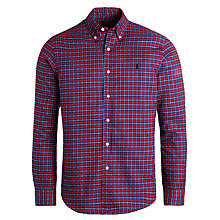 Buy Polo Ralph Lauren Slim Fit Check Oxford Shirt, Red/Blue Online at johnlewis.com