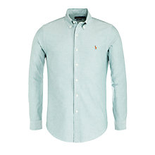 Buy Polo Ralph Lauren Oxford Slim Fit Long Sleeve Shirt, Forest Green Online at johnlewis.com