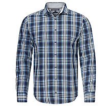 Buy Tommy Hilfiger Hays Check Log Sleeve Shirt, Indigo Online at johnlewis.com