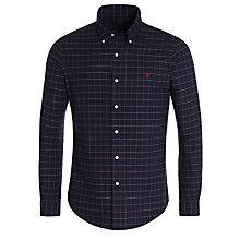 Buy Polo Ralph Lauren Slim Fit Oxford Check Shirt, Navy Online at johnlewis.com