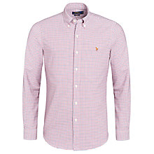 Buy Polo Ralph Lauren Slim Oxford Check Shirt, Red Online at johnlewis.com