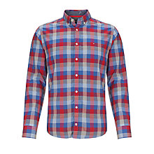 Buy Tommy Hilfiger Shane Check Shirt, Dutch Navy- Eur Online at johnlewis.com