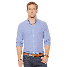 Buy Polo Ralph Lauren Gingham Check Shirt, Blue/White Online at johnlewis.com