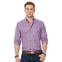 Buy Polo Ralph Lauren Twill Slim Shirt, Magenta Online at johnlewis.com