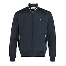 Buy Original Penguin Quilted Bomber Jacket, Dark Sapphire Online at johnlewis.com