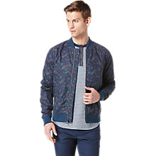 Buy Original Penguin Paisley Bomber Jacket, Dress Blue Online at johnlewis.com