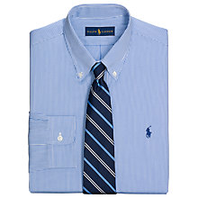 Buy Polo Ralph Lauren Slim Fit Bengal Stripe Shirt, Royal/White Online at johnlewis.com