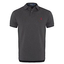 Buy Polo Ralph Lauren Slim Fit Polo Shirt, Grey Online at johnlewis.com