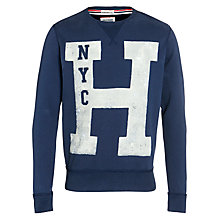 Buy Hilfiger Denim Jersey Sweatshirt, Black Iris Online at johnlewis.com