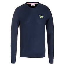 Buy Hilfiger Denim Elton Crew Neck Jumper, Black Iris Online at johnlewis.com