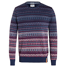 Buy Hilfiger Denim Ernest Cotton Jumper, Black Iris Online at johnlewis.com