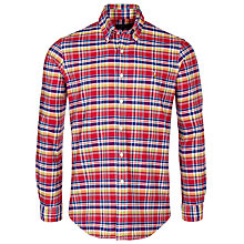 Buy Polo Ralph Lauren Slim Fit Oxford Check Shirt, Red/Blue Online at johnlewis.com