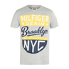 Buy Hilfiger Denim Sarge T-Shirt, Light Grey Heather Online at johnlewis.com