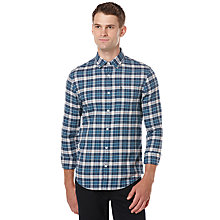 Buy Original Penguin Sea Grove Flannel Check Shirt, Legion Blue Online at johnlewis.com