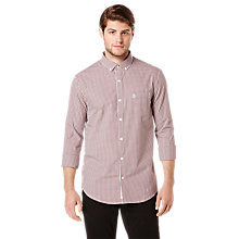 Buy Original Penguin Long Sleeved Cotton Shirt, Mauve Wine Online at johnlewis.com