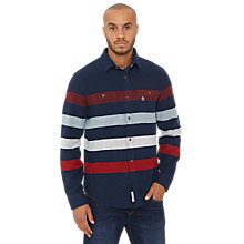Buy Original Penguin Striped Shirt, Dawn Blue Online at johnlewis.com
