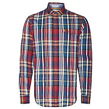 Buy Original Penguin Next Day Checked Long Sleeved Cotton Shirt, Red Multi Online at johnlewis.com