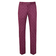Buy Original Penguin Paisley Print Chinos, Plum Online at johnlewis.com