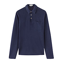 Buy Jigsaw Linen Long Sleeve Polo Shirt Online at johnlewis.com