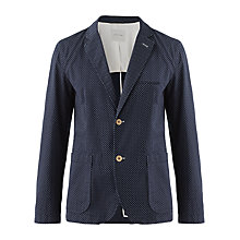 Buy Jigsaw Polka Dot Cotton Blazer, Navy Online at johnlewis.com