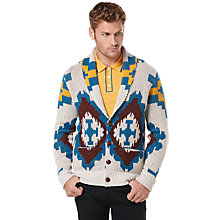 Buy Original Penguin Bear Crazy Cardigan, Silver Birch Online at johnlewis.com
