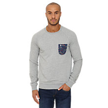 Buy Original Penguin Paisley Pocket Sweatshirt, Rain Heather Online at johnlewis.com