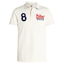 Buy Hilfiger Denim Pilot Badge Polo Shirt, Marshmallow Online at johnlewis.com