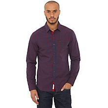Buy Original Penguin Fred Long Sleeve Shirt, Dress Blue Online at johnlewis.com