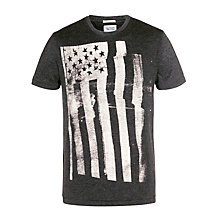 Buy Hilfiger Denim Sonny T-Shirt, Tommy Black Online at johnlewis.com