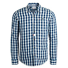 Buy Hilfiger Denim Oric Check Shirt, Reflecting Pond Online at johnlewis.com