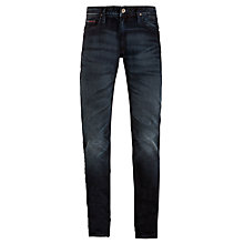 Buy Hilfiger Denim Ronnie Regular Tapered Fit Jeans, Baker Blue Black Online at johnlewis.com
