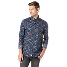 Buy Original Penguin Paisley Print Shirt, Dress Blue Online at johnlewis.com