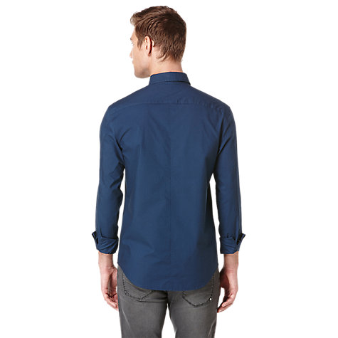 Buy Original Penguin Long Sleeve Oxford Shirt, Dress Blue Online at johnlewis.com