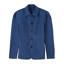 Buy Jigsaw Cotton Canvas Workwear Jacket, French Blue Online at johnlewis.com
