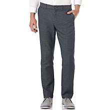 Buy Original Penguin Run On Jacquard Trousers, Dress Blues Online at johnlewis.com