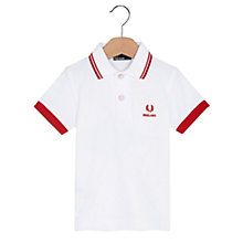 Buy Fred Perry Kids England Polo Top, White Online at johnlewis.com