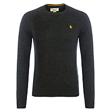 Buy Original Penguin Solid Lambswool Jumper, Charcoal Online at johnlewis.com
