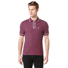 Buy Original Penguin Earl Polo Shirt, Plum Online at johnlewis.com
