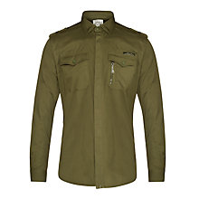 Buy Diesel Siranella-S Long Sleeve Shirt, Dark Khaki Online at johnlewis.com