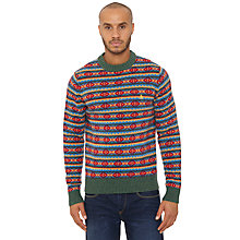 Buy Original Penguin Fair Isle Crew Neck Wool Jumper, Rifle Green Online at johnlewis.com