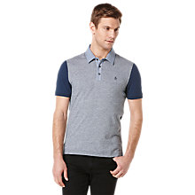 Buy Original Penguin Birdseye Panel Front Polo Shirt Online at johnlewis.com