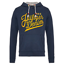 Buy Hilfiger Denim Embroidered Logo Hoodie Online at johnlewis.com