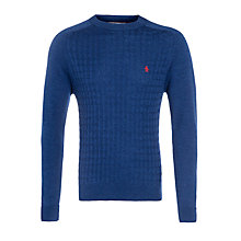 Buy Original Penguin Marley Merino Wool Crew Neck Jumper, True Blue Online at johnlewis.com