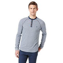 Buy Original Penguin Long Sleeve Men's Henley Top, Blue Online at johnlewis.com
